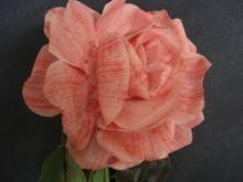 Original Vintage Fabric Flowers, Large Ruby Rose