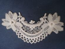 Antique French Lace Floral Applique Circa Early 1900s