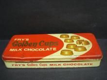 Fry's Vintage Tin Box Golden Cups Milk Chocolate Old Tinbox