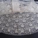 Fantastic Vintage  Lace Collar for Dress or Blouse White Lace Pearly Buttons