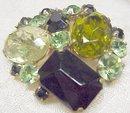 Vintage Crystal Pin Brooch Broach