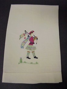 Fabulous ANTIQUE TOWEL Hand Emroidered