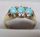 SUPERB VICTORIAN 14k TURQUOISE RING