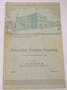 50's  AUTOMOBILE RADIATOR REPAIRING BOOK