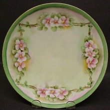 ANTIQUE HAND PAINTED PLATE - SILESIA
