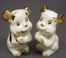 FIGURAL SALT & PEPPER - CUTE DOGS