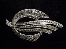 GENUINE MARCASITE DECO STYLE  BROOCH