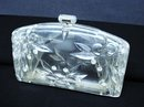 CARVED LUCITE&RHINESTONE PURSE/Handbag