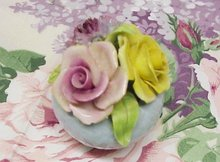 Staffordshire China Flower Bouquet - FLORAL