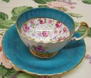 Fantastic Aynsley Cup and Saucer   Chintz