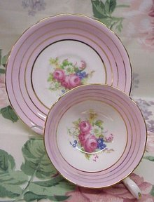 C & E CHINA CUP AND SAUCER