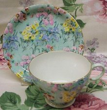 Pretty Shelley Cup and Saucer Set Original Chintz Floral Pattern  Melody