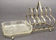 ART DECO TOAST RACK with BUTTER DISH