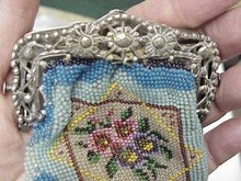VICTORIAN CHILD's BEADED PURSE