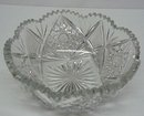 HEIRLOOM ANTIQUE CUT CRYSTAL FRUIT BOWL