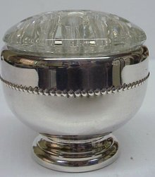 LOVELY SILVER PLATED FLOWER BOWL