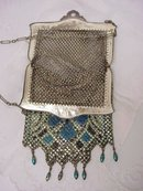 MANDALIAN-DECO METALIC MESH PURSE BAG