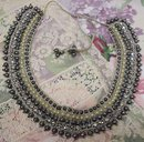 ANTIQUE HAND BEADED NECKLACE -COLLAR