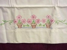 CRISP WHITE EMBROIDERY PILLOWCASE