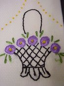 EMBROIDERY TOWEL -  SATIN STITCH