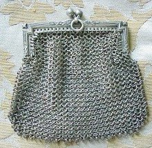VICTORIAN STERLING  TINY PURSE