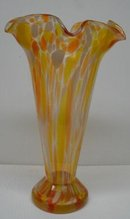 HUGE ANTIQUE ART GLASS VASE