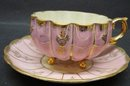 FOOTED CASTLE CHINA CUP & SAUCER