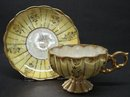 PEDESTAL LUSTER CHINA  CUP & SAUCER