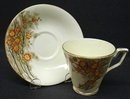 ART DECO STYLE CUP & SAUCER MADE IN ENGLAND ENGLISH BONE CHINA