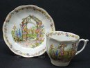 BELL China CUP & SAUCER/ROSE COTTAGE