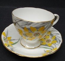 GLADSTONE CHINA CUP&SAUCER HAND PNTD.