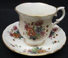 CROWN STAFFORDSHIRE CUP&SAUCER
