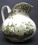 OLD DOULTON'S GREEN TRANSFER JUG