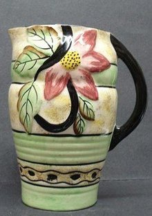 PRETTY LARGE ART DECO  JUG