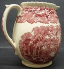 LOVELY RED TRANSFER MASON'S JUG