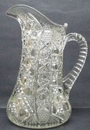 ANTIQUE HEAVY GLASS LARGE JUG