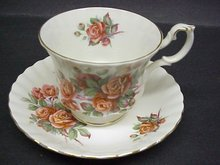 SHABBY ROSES ROYAL ALBERT CUP and SAUCER
