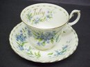 PRETTY ROYAL ALBERT CUP and SAUCER - JULY