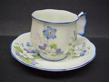 RARE - BUTTERFLY HANDLE - CUP and SAUCER
