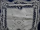 VICTORIAN CUTWORK & LACE CENTERPIECE