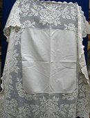 VICTORIAN WHITE TABLECLOTH - WIDE LACE