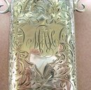 VICTORIAN STERLING CHATELAINE GLASSES CASE