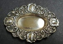 VICTORIAN ORNATE TINY STERLING DISH