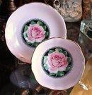 CANDY PINK ROSE PARAGON CUP & SAUCER