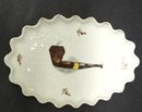 RARE ANTIQUE PORCELAIN PIPE TRAY