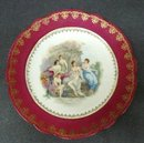 LOVELY  ANTIQUE PLATE - PRETTY LADIES