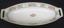 PINK ROSES GOLD GILT NIPPON  OVAL DISH