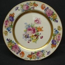 COTTAGE CHIC ROSES - LARGE PLATTER