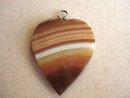 SCOTTISH AGATE HEART PENDANT