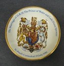 Royalty MARRIAGE SOUVENIR TINY DISH 1981